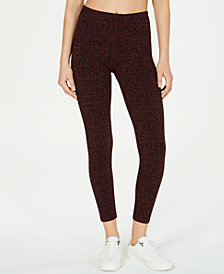 Calvin Klein Performance Logo-Print High-Waist Leggings