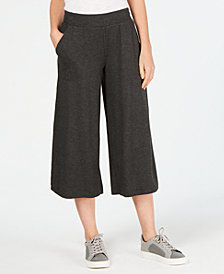 Ideology Wide-Leg Cropped Pants, Created for Macy's
