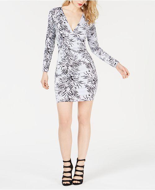 GUESS Latrice Printed Surplice Dress