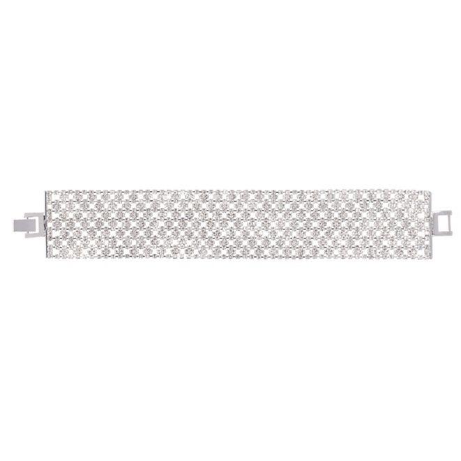 Nina Crystal Mesh Line Bracelet