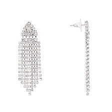 Nina Art Deco Crystal Fringe Earrings