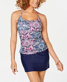 Island Escape Printed Tankini Top & Swim Skirt, Created for Macy's