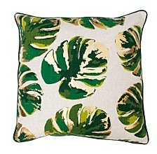 """Wallace Gold Foil Printed Leaf Pillow, 20"""" x 20"""""""