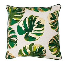 "Wallace Gold Foil Printed Leaf Pillow, 20"" x 20"""