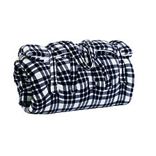 Classic Navy Classic Plaid Fleece Sleeping Bag with Attached Pillow