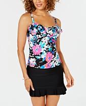 751589d3a7 Island Escape Swim Society Printed Tahiti Ruffled Tankini Top & Swim Skirt,  Created for Macy's