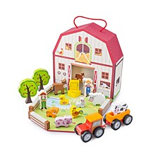 New Classic Toys Wooden Farm House Playset