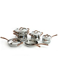 Ouro Gold Stainless Steel 11 Piece Cookware Set