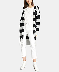 Sanctuary Sanctuary Hooded Rugby-Stripe Long Cardigan