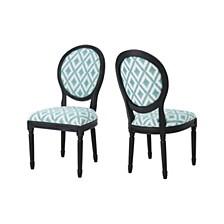 Hiro Chevron Dining Chairs (Set of 2), Quick Ship