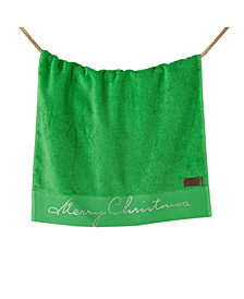 Enchante Home Merry Christmas Embroidered 2-Pc. Bath Towel Set