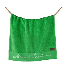 Enchante Home Merry Christmas Embroidered 2-Pc. Bath Towel Set