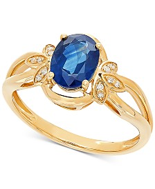 Sapphire (1-1/2 ct t.w.) & Diamond Accent Ring in 14k Gold