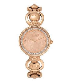 Versus Women's Victoria Harbour Rose Gold-Tone Stainless Steel Bracelet Watch 34mm