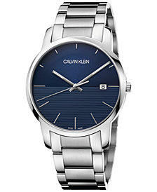 Calivn Klein Men's Swiss City Stainless Steel Bracelet Watch 43mm