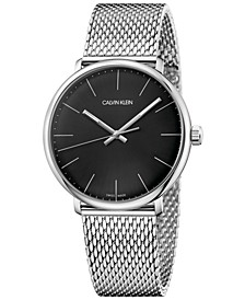 Men's Swiss High Noon Stainless Steel Mesh Bracelet Watch 40mm