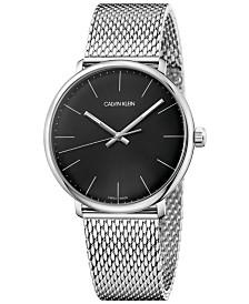 Calvin Klein Men's Swiss High Noon Stainless Steel Mesh Bracelet Watch 40mm