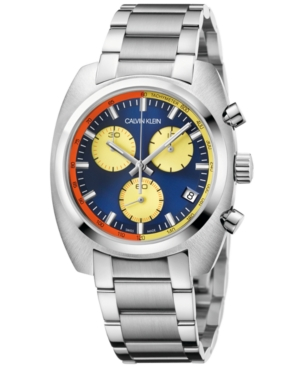 Calvin Klein Men's Swiss Chronograph Achieve Stainless Steel Bracelet Watch 40mm x 49.75mm