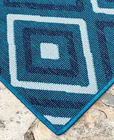 "Liora Manne' Riviera 7641 Nested Diamond 7'10"" Indoor/Outdoor Square Area Rug"