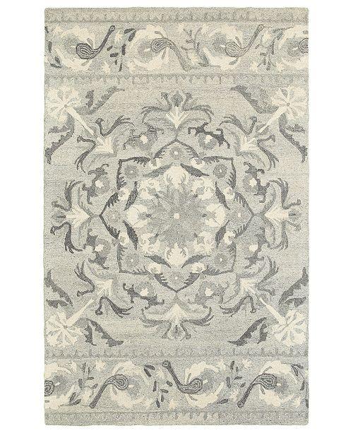 Oriental Weavers Craft 93001 Ash/Ivory 5' x 8' Area Rug