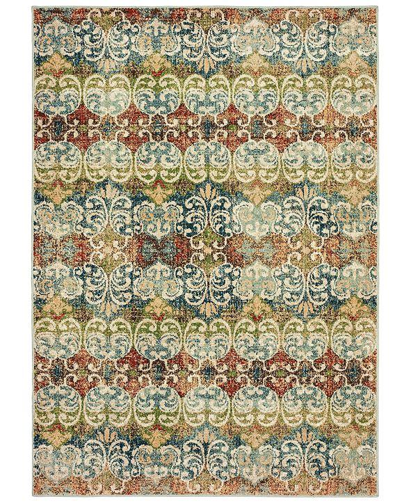 "Oriental Weavers Dawson 7341B Multi/Ivory 5'3"" x 7'6"" Area Rug"