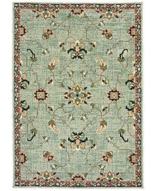 "Oriental Weavers Dawson 8262C Blue/Teal 6'7"" x 9'6"" Area Rug"