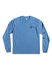 Quiksilver Waterman Men's Hagi Ruin Graphic Sleeve Tshirt