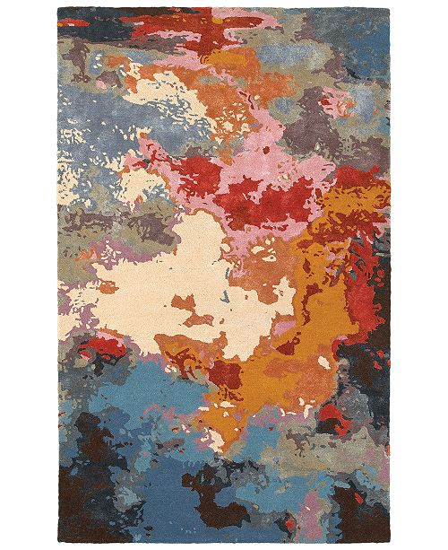 Oriental Weavers Galaxy 21908 Multi/Pink 5' x 8' Area Rug
