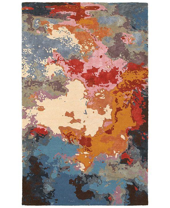 Oriental Weavers Galaxy 21908 Multi/Pink 5' x 8' Area Rug