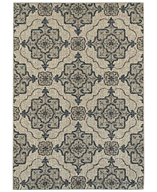 "Highlands 6677A Beige/Gray 6'7"" x 9'6"" Area Rug"