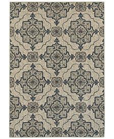 "Oriental Weavers Highlands 6677A Beige/Gray 7'10"" x 10'10"" Area Rug"