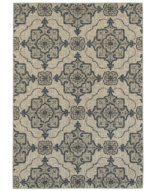 "Oriental Weavers Highlands 6677A Beige/Gray 7'10"" x 10'10"" Area Rug"
