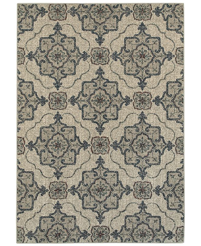 "Oriental Weavers Highlands 6677A Beige/Gray 6'7"" x 9'6"" Area Rug"