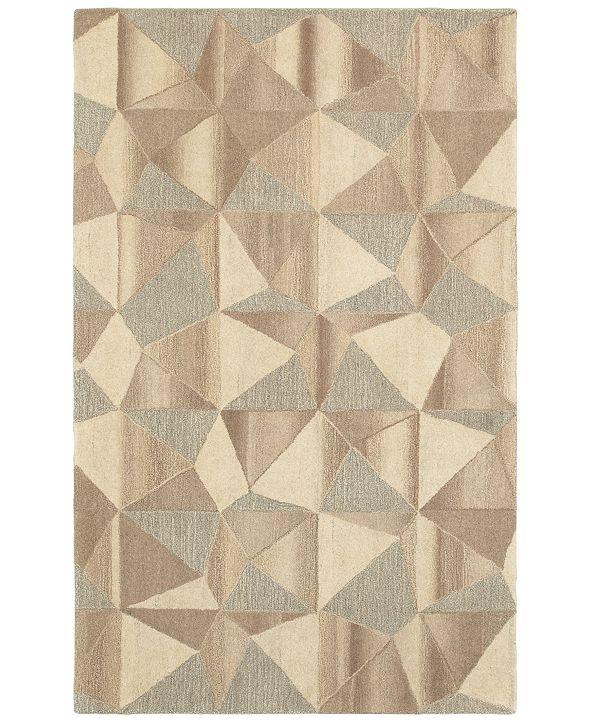 """Oriental Weavers Infused 67004 Beige/Gray 3'6"""" x 5'6"""" Area Rug"""