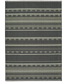 "Oriental Weavers Luna 1802K Black/Ivory 9'10"" x 12'10"" Area Rug"