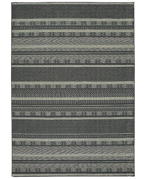 "Oriental Weavers Luna 1802K Black/Ivory 7'10"" x 10'10"" Area Rug"