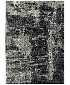 """Luna 1805K Black/Ivory 7'10"""" x 10'10"""" Area Rug"""