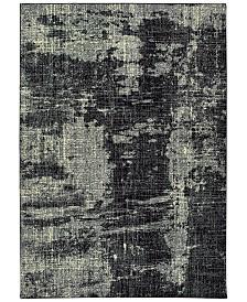 "Oriental Weavers Luna 1805K Black/Ivory 7'10"" x 10'10"" Area Rug"