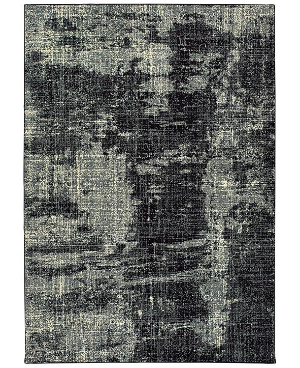 "Oriental Weavers Luna 1805K Black/Ivory 6'7"" x 9'6"" Area Rug"