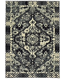"Oriental Weavers Luna 5603K Black/Ivory 9'10"" x 12'10"" Area Rug"