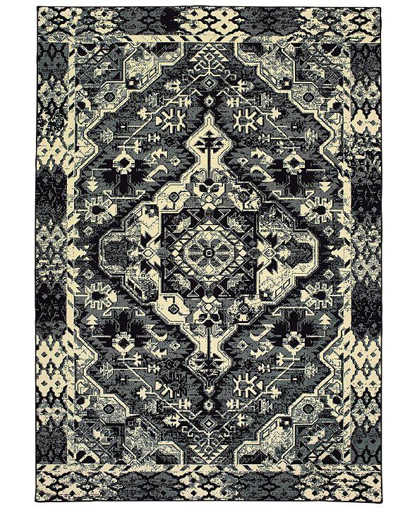 "Oriental Weavers Luna 5603K Black/Ivory 3'10"" x 5'5"" Area Rug"
