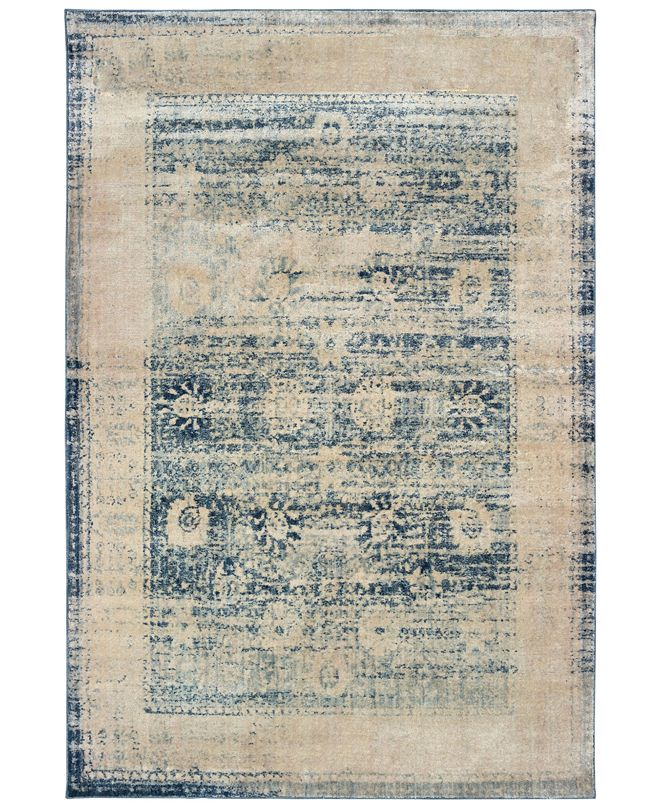 "Oriental Weavers Pandora 1444H Ivory/Blue 7'10"" x 10'10"" Area Rug"