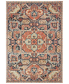 "Pandora 49S Blue/Orange 7'10"" x 10'10"" Area Rug"