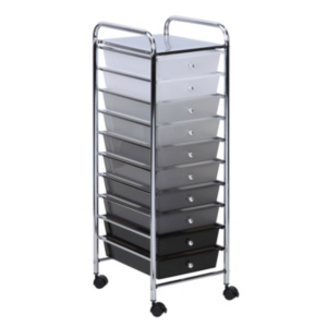 Honey Can Do 10-Drawer Shaded Rolling Storage Cart