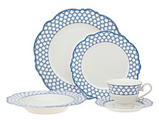 Godinger Bristol Blue Bone China 20-PC Dinnerware Set