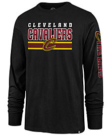 '47 Brand Men's Cleveland Cavaliers Level Up Super Rival Long Sleeve T-Shirt