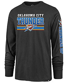 '47 Brand Men's Oklahoma City Thunder Level Up Super Rival Long Sleeve T-Shirt