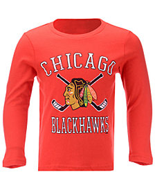 Outerstuff Chicago Blackhawks Lines Crossed Long Sleeve T-Shirt, Toddler Boys (2T-4T)