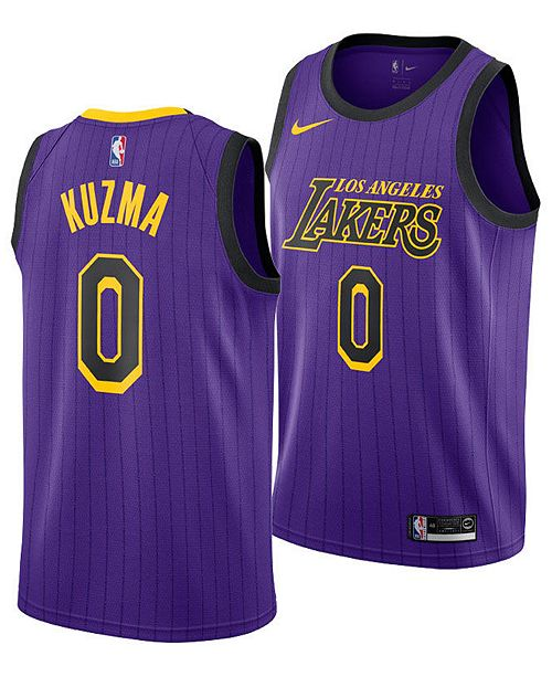 bdade8cff73 Nike Men s Kyle Kuzma Los Angeles Lakers City Swingman Jersey 2018 ...