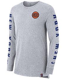 Nike Men's New York Knicks City Elevated Long Sleeve Dry T-Shirt